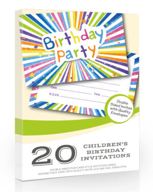 20 x Childrens Birthday Party Invitation Cards