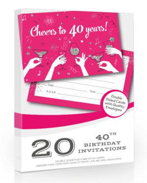 20 x Ladies 40th Birthday Party Invitations