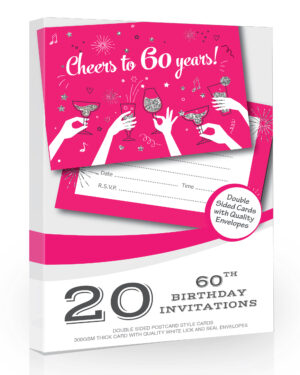 60th Birthday Party Invitation Cheers to 60 Years
