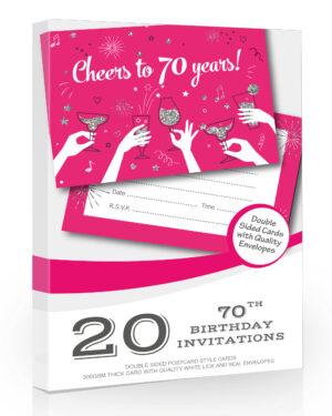 20 x Ladies 70th Birthday Party Invitations