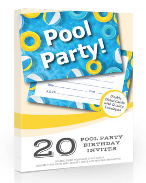 20 x Pool Party Invitations