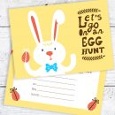Easter Egg Hunt Postcard Invitations - Easter Bunny Party Invites - Ready to Write with Envelopes (Pack of 10)