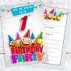 1st Birthday Party Emoji Party Invitations