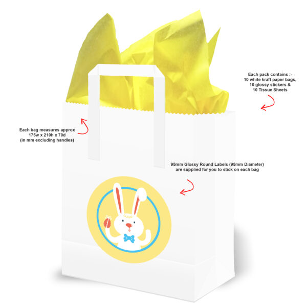Easter Egg Hunt Bags with Text