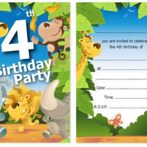 4th birthday party jungle themed animal invitations ready to write 4th birthday party jungle themed animal invitations ready to write with envelopes pack 10 olivia samuel filmwisefo