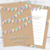 100th Birthday Invitations - Bunting Design - Ready to Write Invites