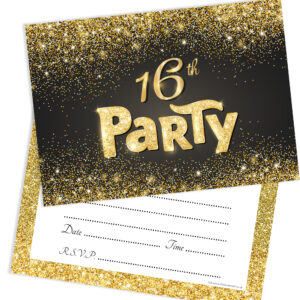Home Invitations Birthday Kids Party 16th