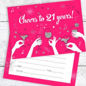 21st birthday party invitations cheers to 21 years ladies pack 21st birthday party invitations cheers to 21 years ladies pack 10 olivia samuel filmwisefo