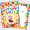 2nd Birthday Invitations - Boy or Girl - Ready to Write with Envelopes Pack of 10