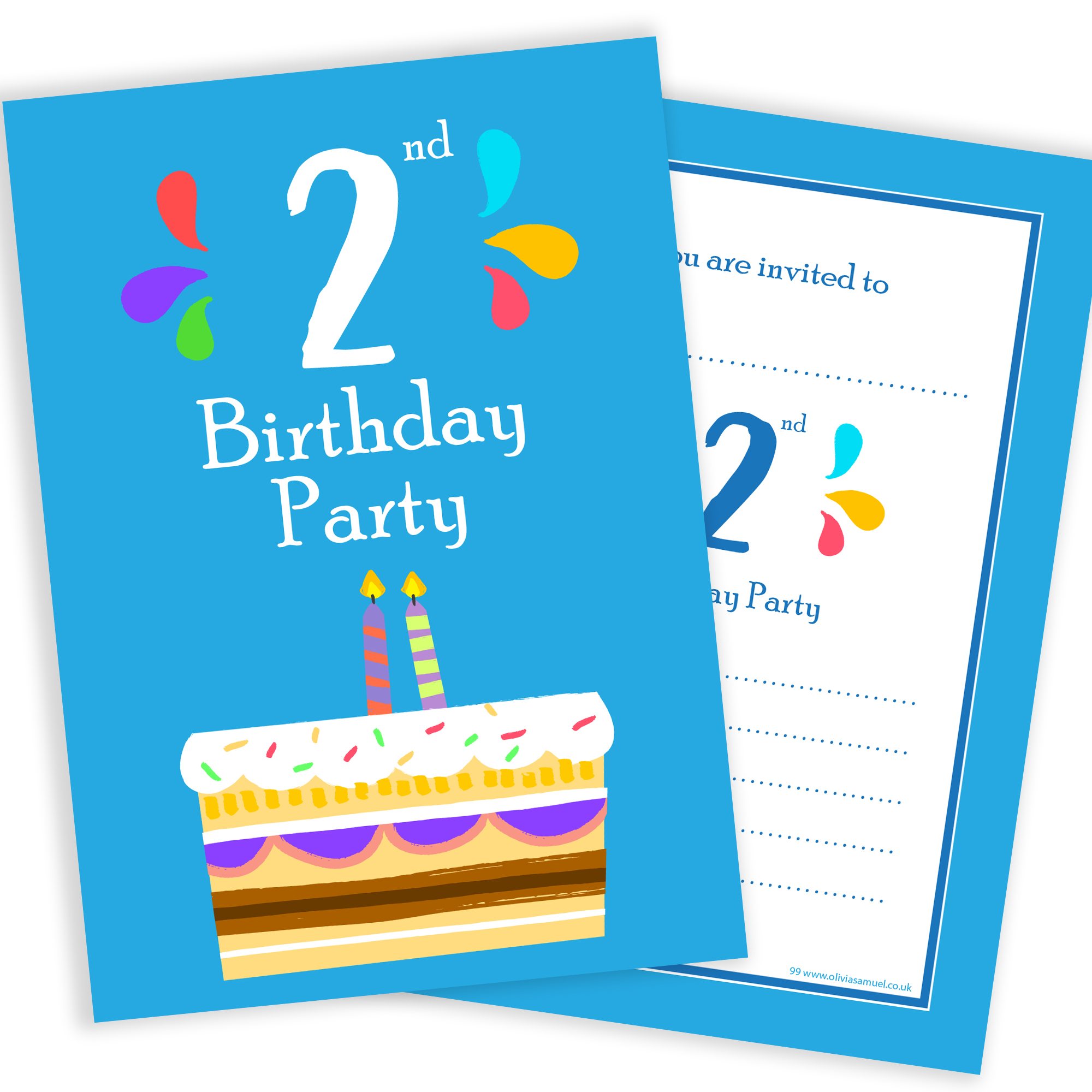 2nd Birthday Party Invitations