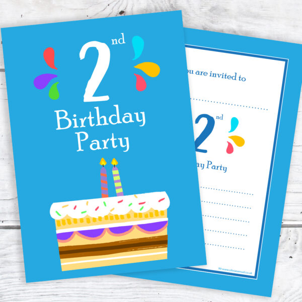2nd Birthday Party Invitations for Boys