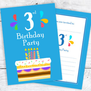 3rd Birthday Party Invitations for Boys
