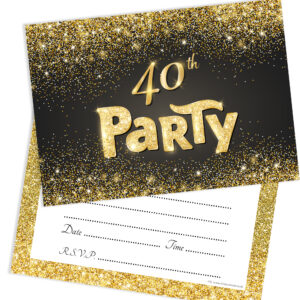 Home Invitations Birthday Adult Party 40th
