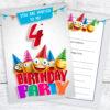 4th Birthday Party Emoji Party Invitations