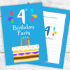 4th Bithday Invitations for Boys