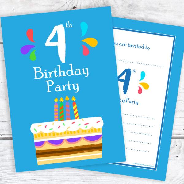 4th Bithday Invitations for Boys