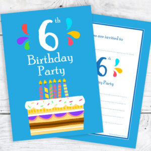 6th Bithday Invitations for Boys
