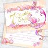 7th Birthday Mermaid Party Invitations