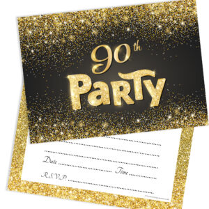 Home Invitations Birthday Adult Party 90th