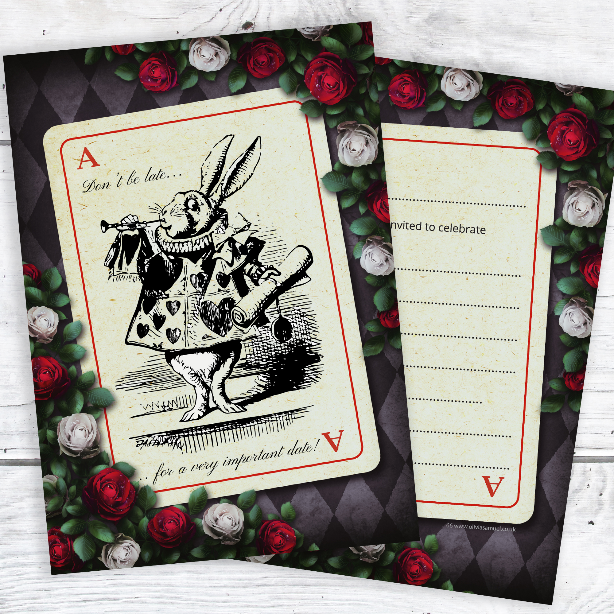 Alice in Wonderland Party Invitations Mad Hatters Tea Party