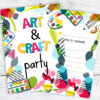 Art and Crafts Party Invitations