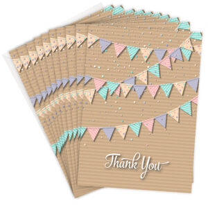 Bunting Style Thank You Cards - Olivia Samuel RTW0080