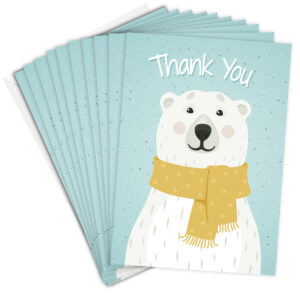 Cute Polar Bear Christmas Thank You Cards