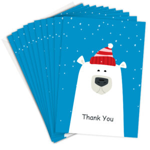 Funny Polar Bear Christmas Thank You Cards