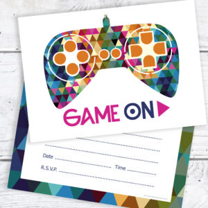 Gamer Party Birthday Invitations RTW0085