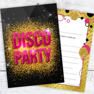 Girls_Disco_Party_Invitations_Pink_and_Gold_Pack