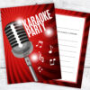 Karaoke Party Invitations Ready to Write Pack 10 with Envelopes