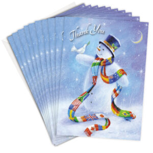 Kids Christmas Thank You Cards Snowman Design