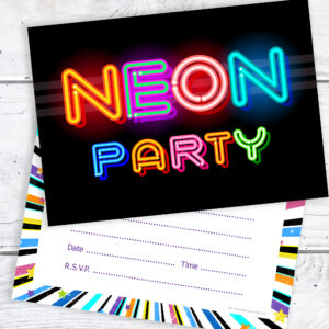 Neon_Party_Birthday_Invitations_ReadytoWrite