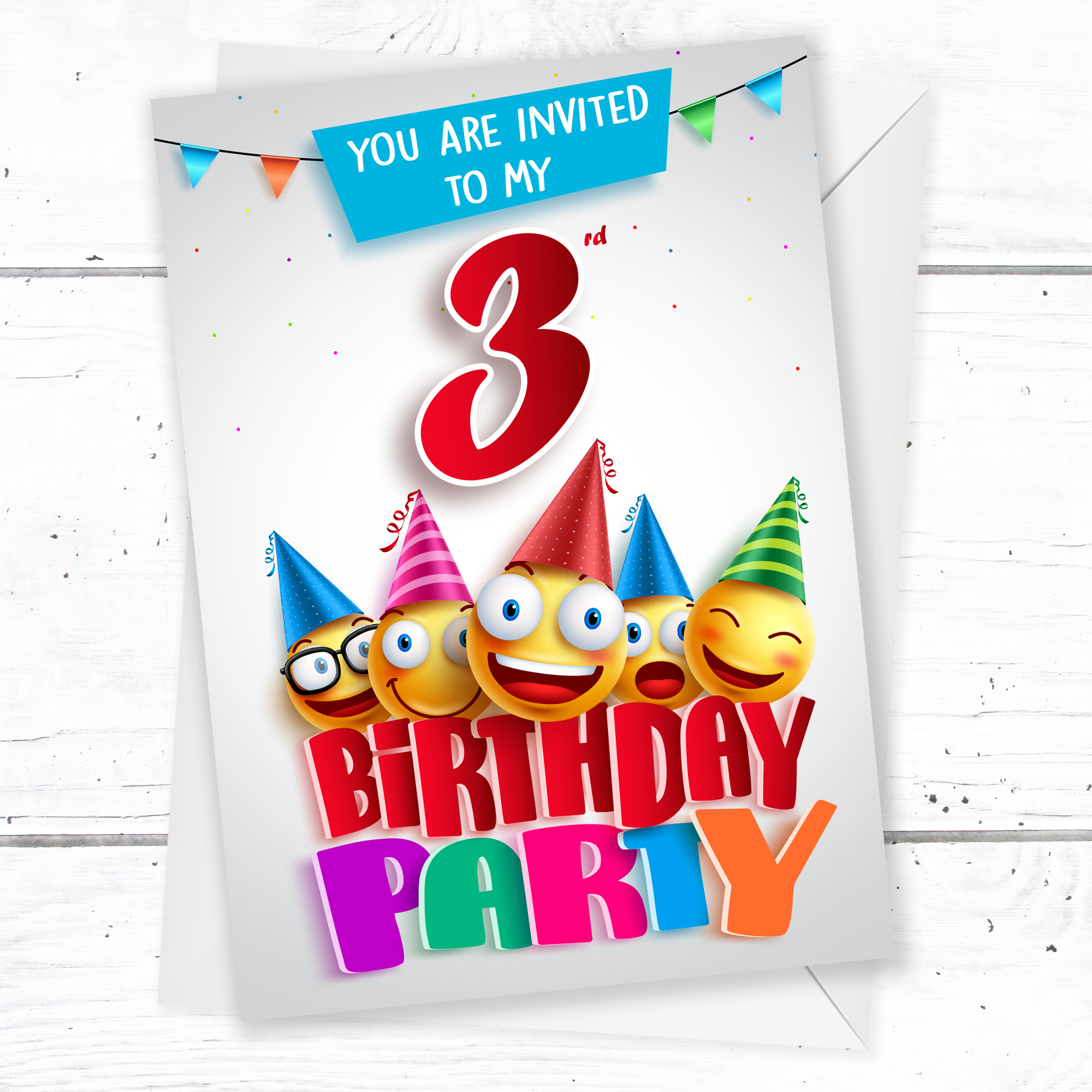 Pyjama Party Birthday Party Invitations Pack 10 A6 Postcard Size