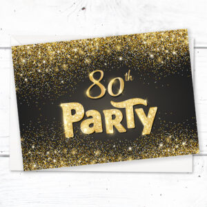 Home Invitations Birthday Adult Party 80th