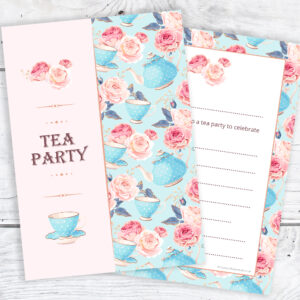 Tea Party Invitations - Ready to Write