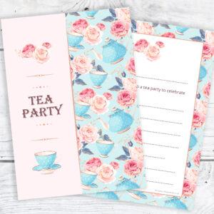 Tea Party Invitations - Ready to Write