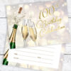 100th Birthday Celebration Champagne Style Invites