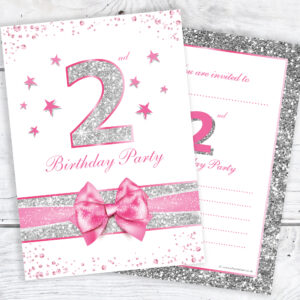 2nd Birthday Party Invitations RTW0025