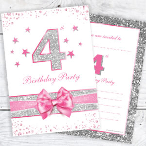 4th_Birthday_Pink_Sparkly_Birthday_Invitations