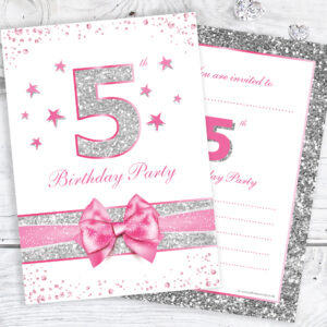 5th_Birthday_Pink_Sparkly_Birthday_Invitations