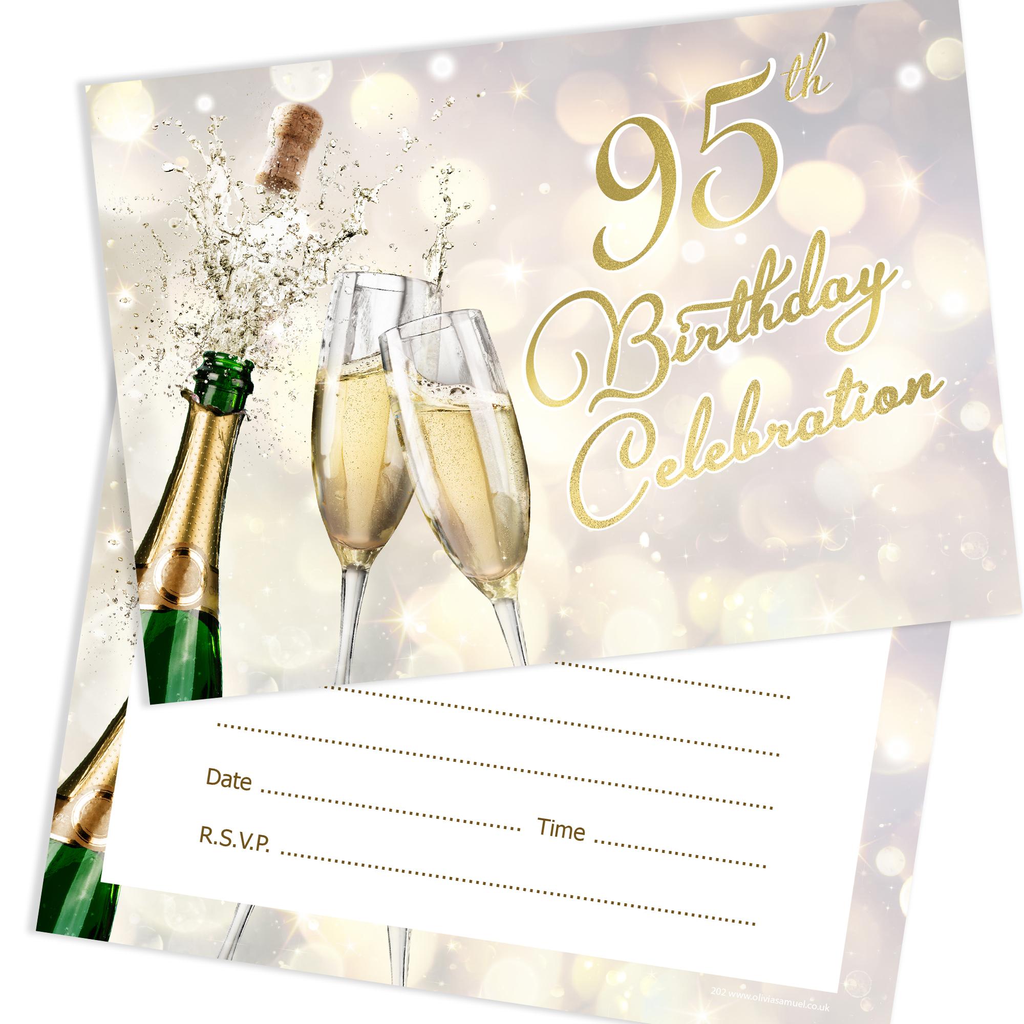 Birthday Celebration Chicago Style: 95th Birthday Celebration Invites