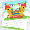 Bouncy Castle Party Invitations RTW0020