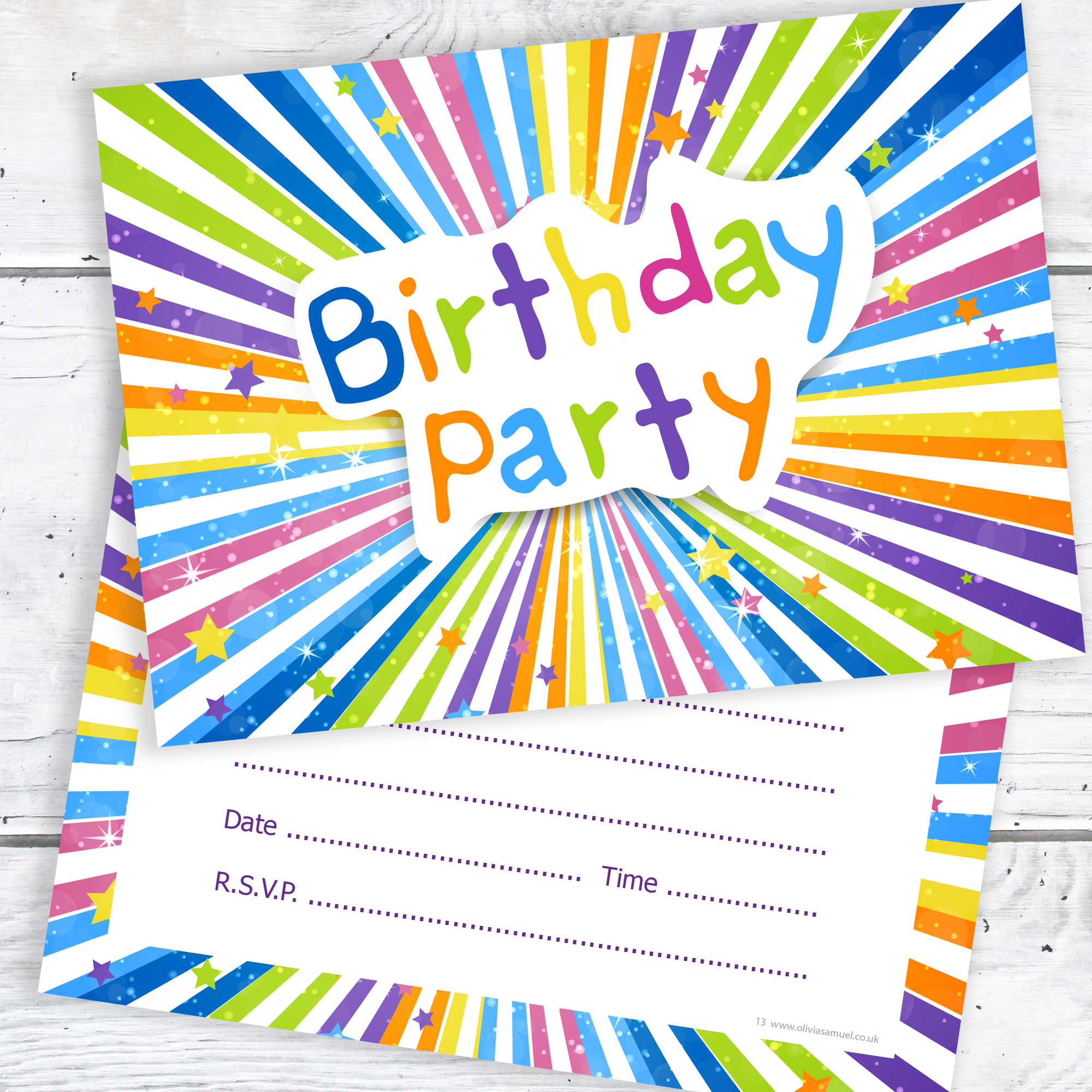 Childrens Birthday Party Invitations Kids Ready To Write Invites A6 Postcard Size With Envelopes Pack Of 10