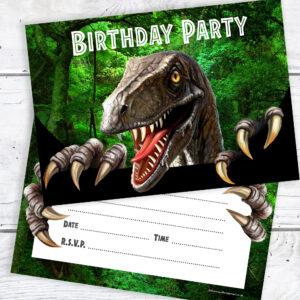 Dinosaur Party Invitations Ready to Write