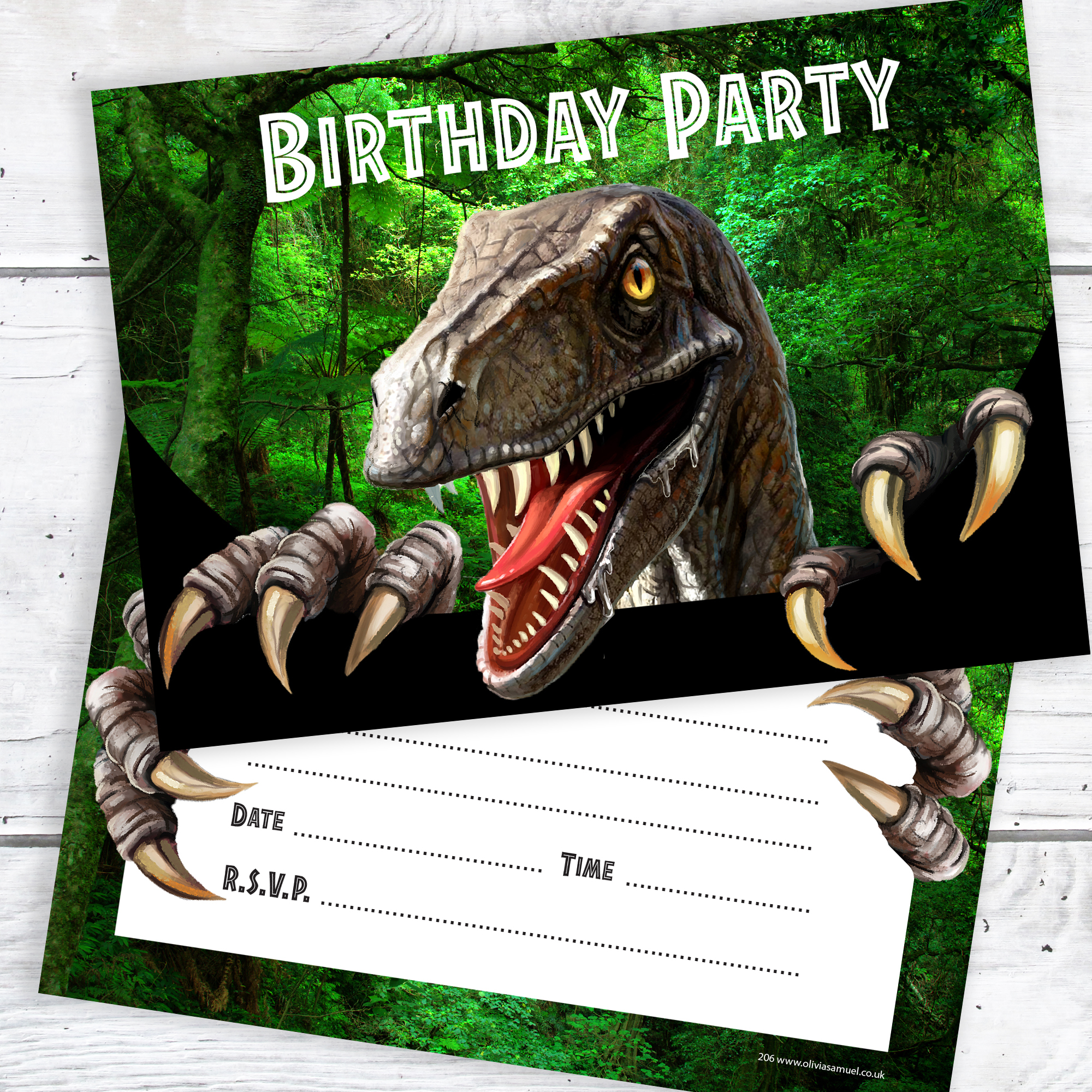 Dinosaur Party Invitations Ready To Write