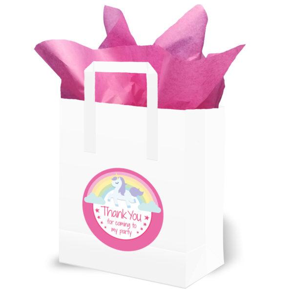 Pink Rainbow Unicorn Party Bags