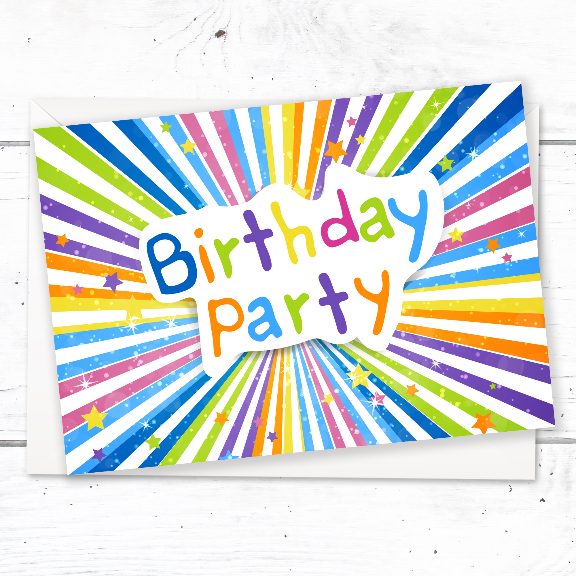Children S Birthday Party Invitations Kids Ready To Write Party Invites A6 Postcard Size With Envelopes Pack Of 10