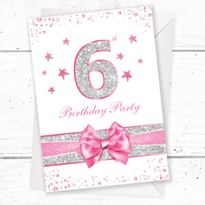 Home Invitations Birthday Kids Party 6th
