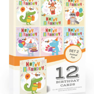 Olivia Samuel Fun Animal Kids Birthday Cards Pack
